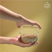 Mika Buah Potong / Cup Buah Plastik / Cup Salad Plastik / Tray Plastik - 300ml