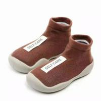 Skidder prewalker shoes Premium/sepatu bayi alas karet/1100SELFCR0000 - Cokelat, 22-23