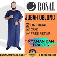 Baju Jubah Gamis Oblong Muslim Laki Laki Dewasa Lengan Pendek Navy