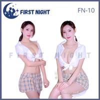 Lingerie Sexy School Cosplay Uniform Costum Baju Tidur Wanita FN-10