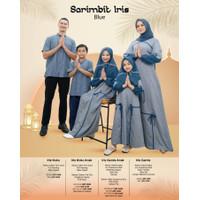 Baju Muslim Nibras Family Iris Blue Sarimbit Keluarga Setelan Couple