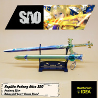 Gantungan Kunci Pedang Anime Alice Zuberg Sword Art Online