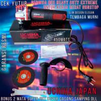 Promo mesin Gerinda Uchiha Type 801 angle grinder Extreme Power Tangan