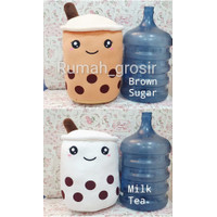 Boneka Bubble Boba Brown Sugar Milk Tea Ukuran Jumbo