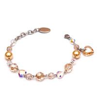 Perhiasan Gelang Swarovski - Rosette Golden Bracelet by AR Hestia