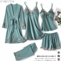 Kimono sexy Murah 5in1 - Piyama wanita premium - Kimono Jumbo