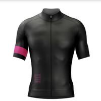 Baju Roadbike Sepeda Jersey Balap Black Hitam Pink Murah DrifitSlimfit