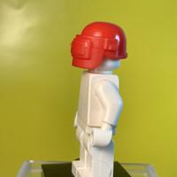 Lego helmet helm free fire pubg cod armor red merah shield pelindung