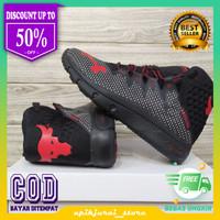 Sepatu Pria Terlaris Under Armour Project Rock Delta Hitam Merah