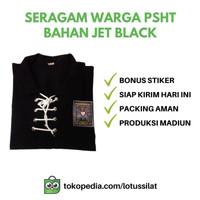 Seragam Baju Silat Sakral Warga PSHT SH Terate Bahan JET BLACK ORI