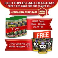 GAGA Otak-otakku 3 toples GRATIS 3 pcs Mie Cup Kuah Jalapeno (GG43)