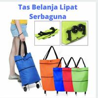 Tas Belanja Lipat Roda - Troli Belanja Serbaguna - Shopping Bag