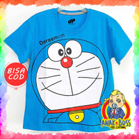 Kaos Baju Anak Laki-Laki Motif Doraemon 1-10 thn anak boss - 1-2