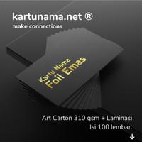 Kartu Nama Foil / Hot Print