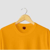 Kaos Polos Cotton Combed 30s 100% Cotton Original Warna Kuning Gold