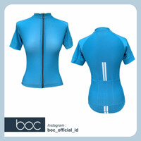Baju Sepeda Cycling Jersey Cowok/Cewek/Unisex Pro Basic - Blue Teal