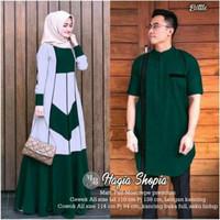 couple gamis hagia shopia / baju couple pasangan muslim
