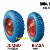 RODA GEROBAK PASIR / BAN GEROBAK COR. size JUMBO. BAHAN PU.