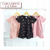 Carla Dress 1-4 Thn - Baju Dress Anak Perempuan Branded