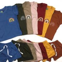 Setelan Pocket Rainbow - Baju Kaos T Shirt Anak 1-5 Tahun Unisex Tee