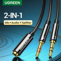 Ugreen Kabel AV Aux Splitter Y Adapter 2 Jack Male to Audio Aux 3.5mm