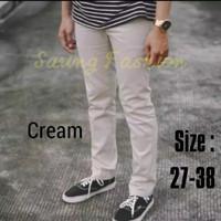celana chino panjang / celana cino pria / celana chinos murah - Cream, 31