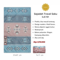 [FREE TASBIH] Sajadah Travel Kashmir Waterproof Anti Slip PREMIUM -101
