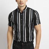 VENGOZ Kemeja Pria Slimfit - Kenzie Stripe Shirt