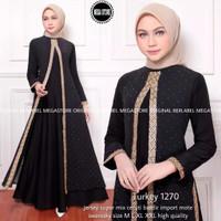 Baju muslim wanita abaya arab turkey 1270 gamis dress size S M L XL