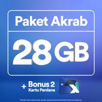 Kartu Perdana XL Akrab 28GB, 2 Anggota, 30 Hari