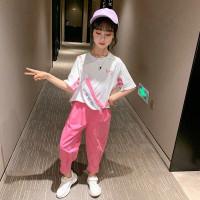setelan baju kaos t-shirt anak perempuan Korea celana panjang import