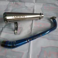 knalpot nmax aerox Lexi Beat Scoopy Vario Arrow pro race header biru
