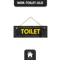 Hiasan Dinding Walldecor Toilet Gold