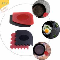 scraper scruber cast iron grill dan skillet aman untuk panci