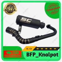 Knalpot Racing SC Project NMAX AEROX Vario BEAT SCOOPY Mio Black Doff - Lexi