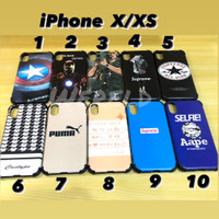 Silikon case motif gambar iPhone x / xs