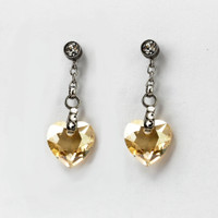 Perhiasan Anting Swarovski - Rosette Golden Earring by AR Hestia