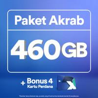 Kartu Perdana XL Akrab hingga 460GB, 4 Anggota, 30 Hari