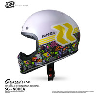 Helm JP Retro Signature NOHEA/RANS Special Edition - Pearl White