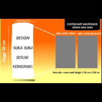 CUSTOM BUFF Buff Custom SLAYER Masker Buff Multifungsi MASKER BANDANA