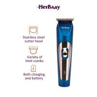 Herbaay Alat Cukur Rambut Elektrik Hair Clipper Kumis Jenggot Biru