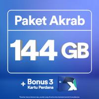 Kartu Perdana XL Akrab hingga 144GB, 3 Anggota, 30 Hari