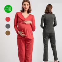 L XL XXL Baju Ibu Hamil dan Menyusui Allie Baju Bumil Dress Busui BS19