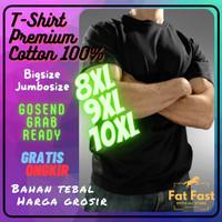 KAOS POLOS HITAM JUMBO BIG SIZE 100% COTTON 8XL 9XL 10XL