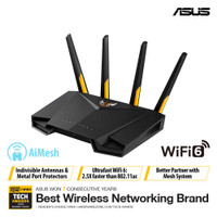 ASUS TUF-AX3000 Dual Band WiFi 6 Gaming Router with AiMesh