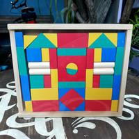 Balok Susun Bangun Kayu Balok C48 Mainan Edukasi Anak