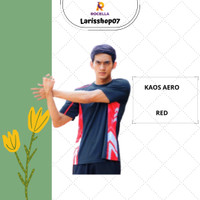 Kaos Olahraga Cowok Dry Fit Bahan Dry - Co Adem Menyerap Keringat - Merah, S