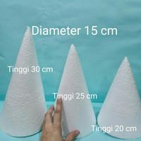 Diameter 15cm Styrofoam Cone Gabus Kerucut (Tinggi pilih di varian)