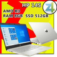 Laptop HP 14S AMD R3-3250U RAM 8GB/SSD 512GB/14 FHD IPS/OHS/WIN 10