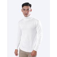 Sweater Rajut Pria Gomuda Signature Roll Neck - Off White - Off White, L